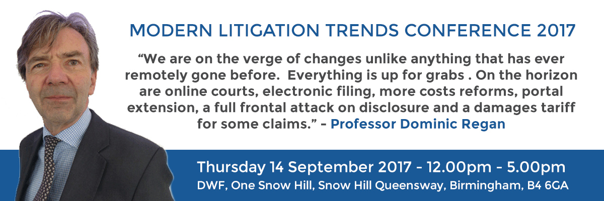 Modern Litigation Trends Conference with Birmingham Law Society: September 2017