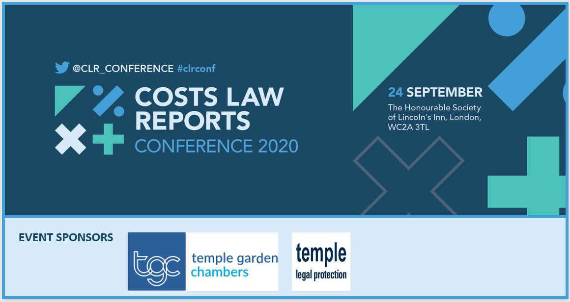 The Costs Law Reports Conference – 24 September 2020