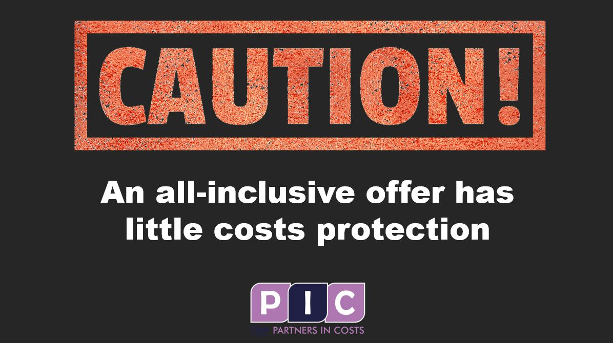 Caution: An all inclusive offer has little costs protection