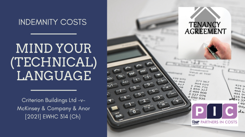 Mind your (technical) language for indemnity costs!