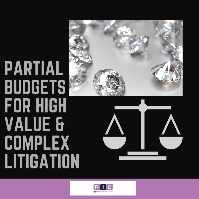 Court recommends partial budgets for high value and complex litigation.