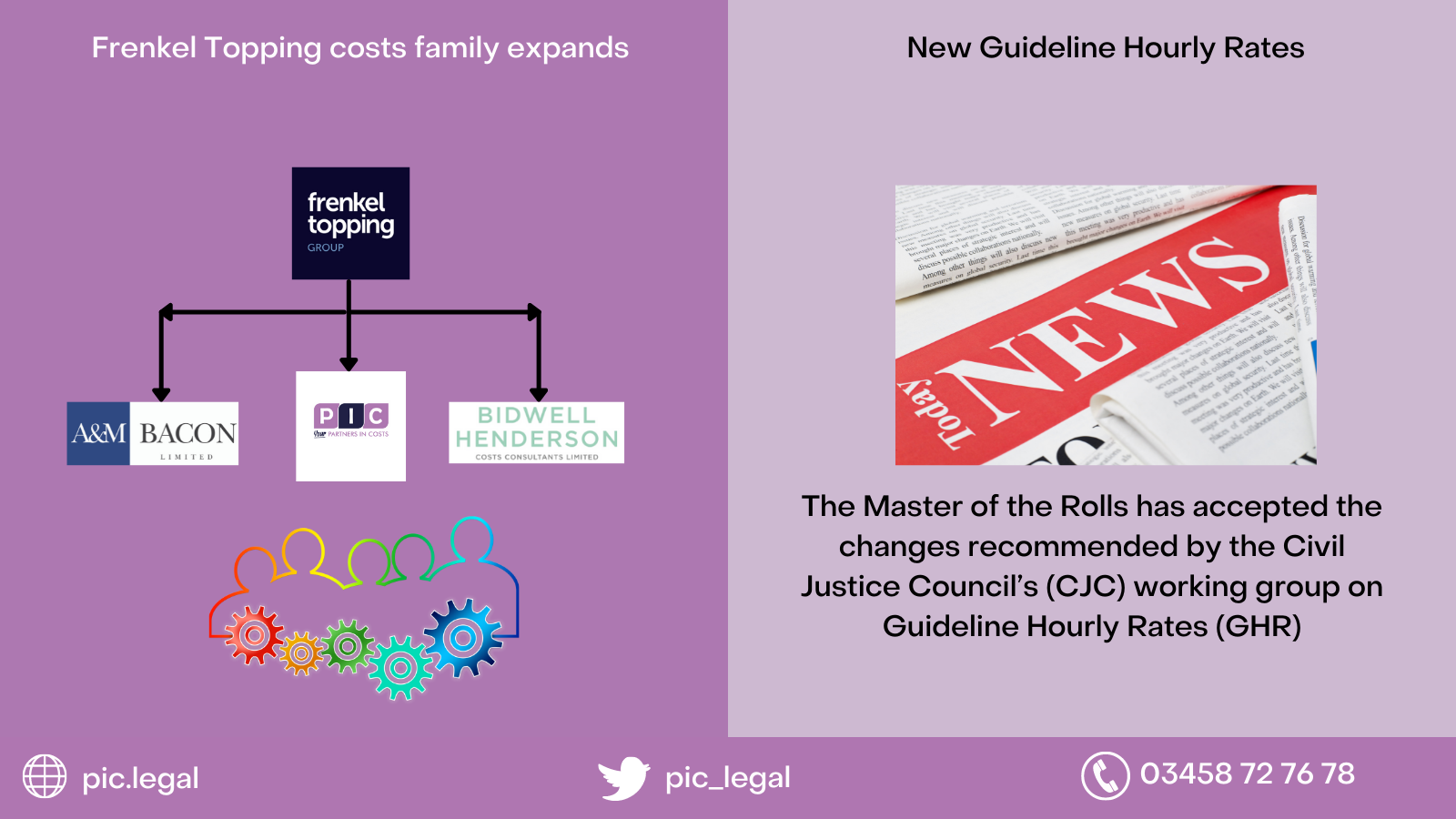 New Guideline Hourly Rates and PIC has a new addition to the family
